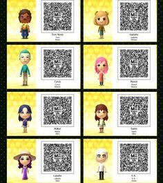 Tomodachi 3ds Qr Codes Kawaii Google Search Animal Crossing Game Animal Crossing Tom Nook Animal Crossing