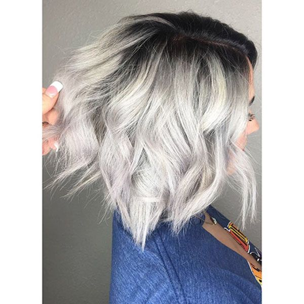 The 65 Best Short Hairstyles And Haircuts To Try Now Dark Roots Blonde Hair Short Hair Balayage Platinum Blonde Hair