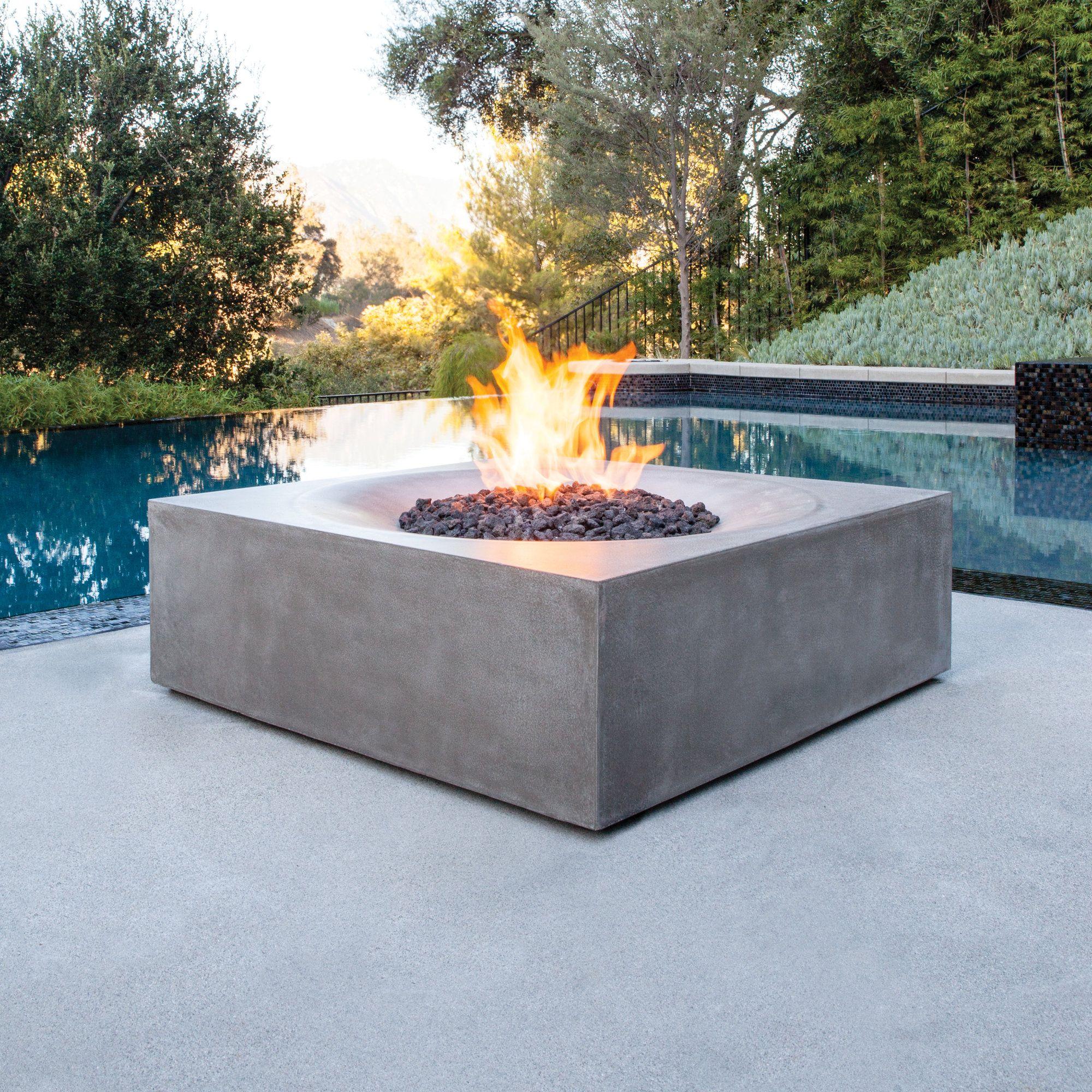 Solstice Concrete Gas Fire Pit Table Terrassenmobel Terrasse Garten