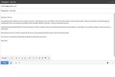 Resignation Letter Sample To Quit A Job  Resignation Letter