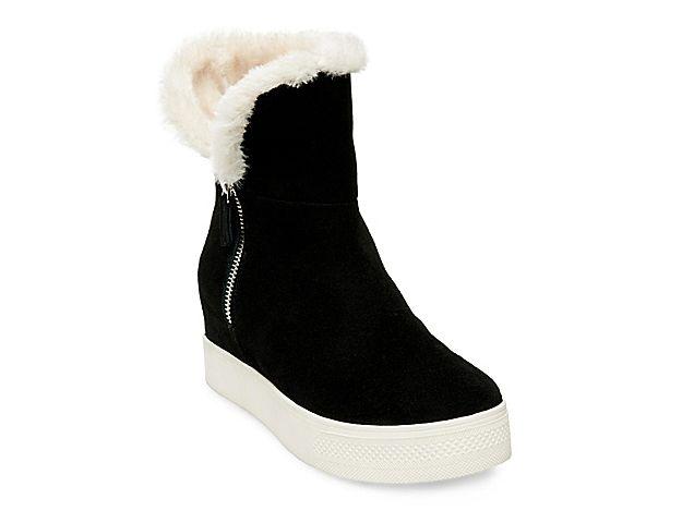 eb5a688d485 Women Weston Wedge Bootie -Black Steve Madden Boots