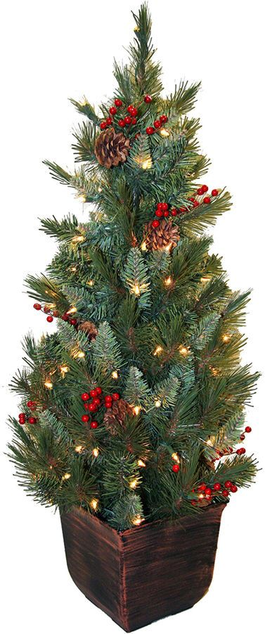 general foam plastics 4 pre lit potted christmas tree