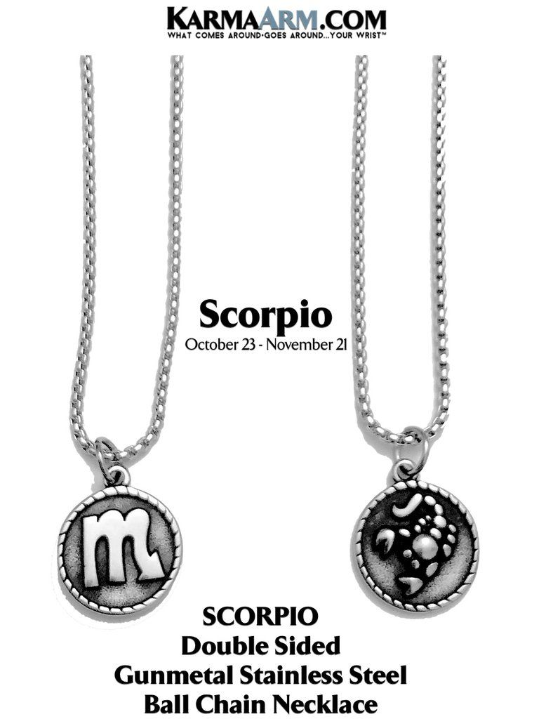 Stainless Steel Birth Sign Jewelry Zodiac Horoscope Astrology KarmaArm Cancer Necklace