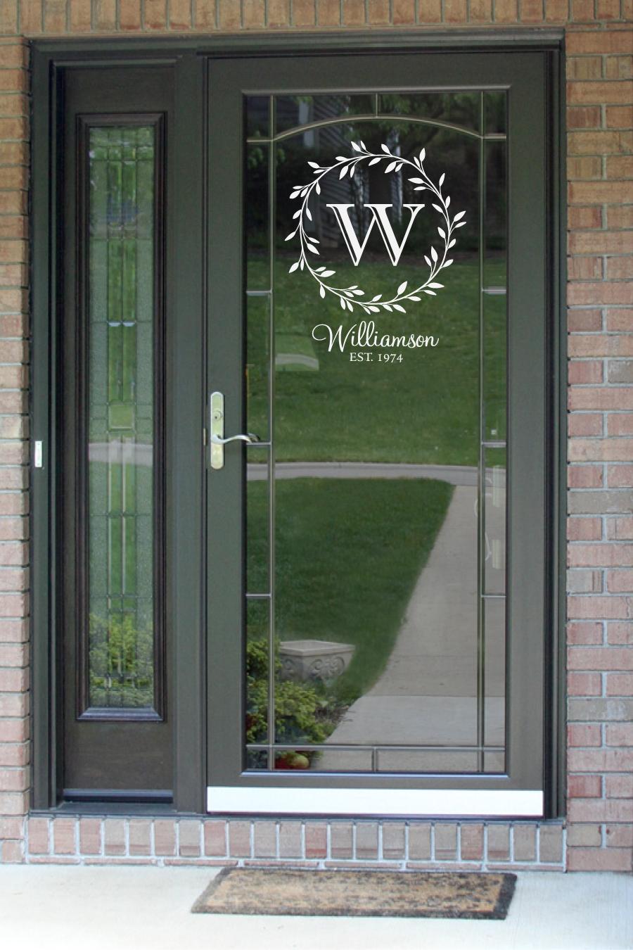 Pin By Words Of Praise On Words Of Praise Glass Storm Doors Front Door Decal Front Door Monogram
