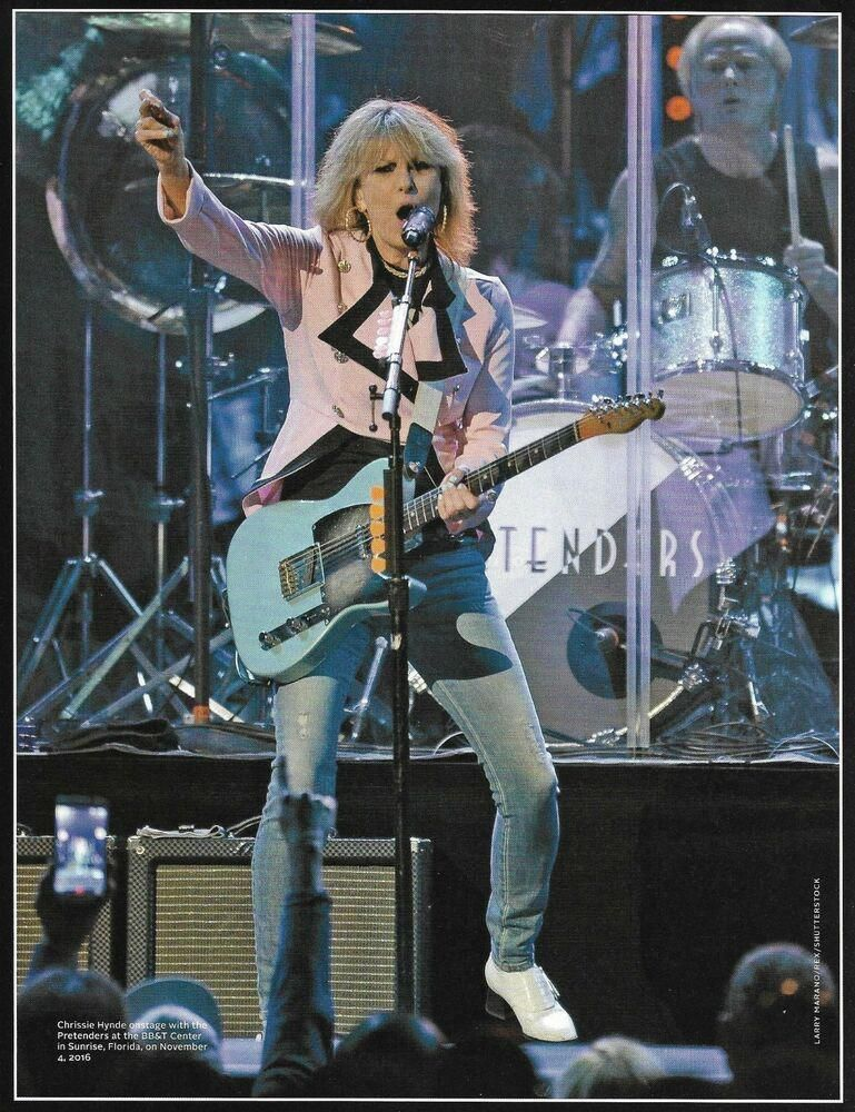The Pretenders Chrissie Hynde with Fender Telecaster guitar 8 x 11 pin-up photo #fenderguitars