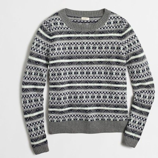 J.Crew Factory Fair Isle sweater ($60) ❤ liked on Polyvore ...