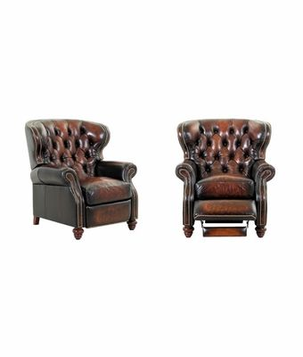 club style couches | Arthur Chesterfield Leather Button Tufted Reclining Wingback Arm Chair  sc 1 st  Pinterest & club style couches | Arthur Chesterfield Leather Button Tufted ... islam-shia.org