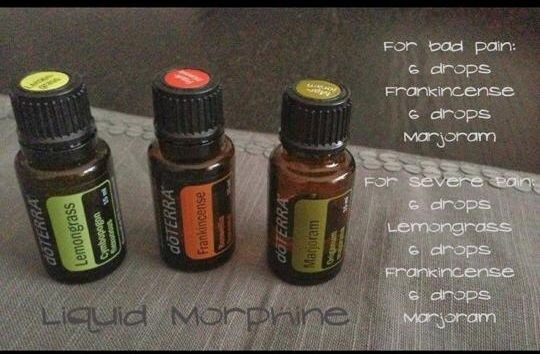 Liquid morphine using dōTerra essential oils. To purchase: mydoterra.com/nikkiblack