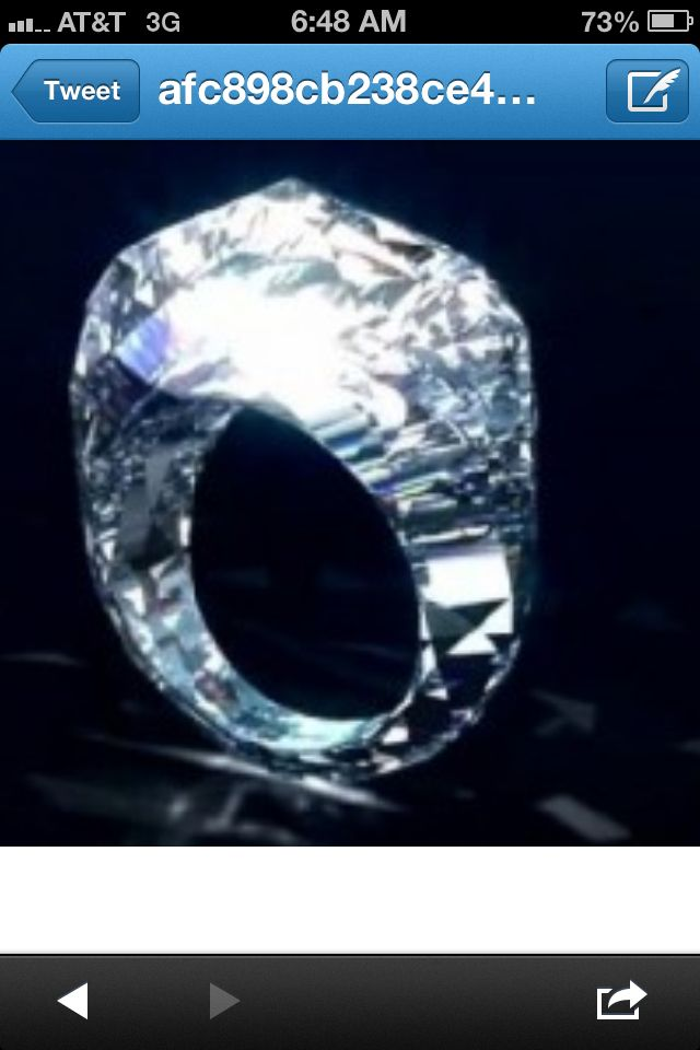 Worlds first all diamond ring. Only $68 million. What? it can't hurt to dream.