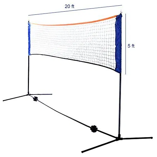 Volleyball Badminton Set Includes 20 Foot Net Badminton Badminton Set Volleyball