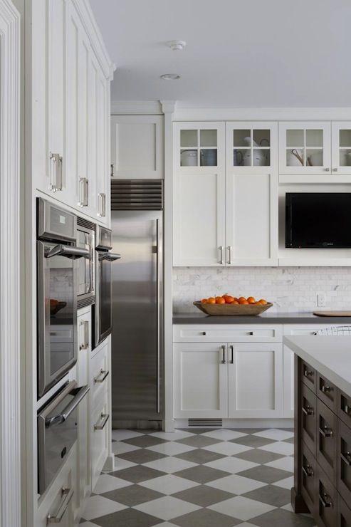 foley & cox - checkered floor tiles - quartz counters - marble