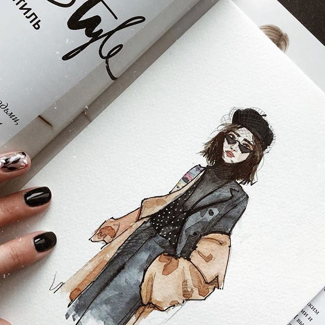 "Photo of Mariana|Fashion•Illustration on Instagram: ""French chic🇫🇷 . . . . . . #marrymeri_art #sketch #fashionsketching #sketchfashion #fashion #streetstyle #streettrends #fashionillustration…"""