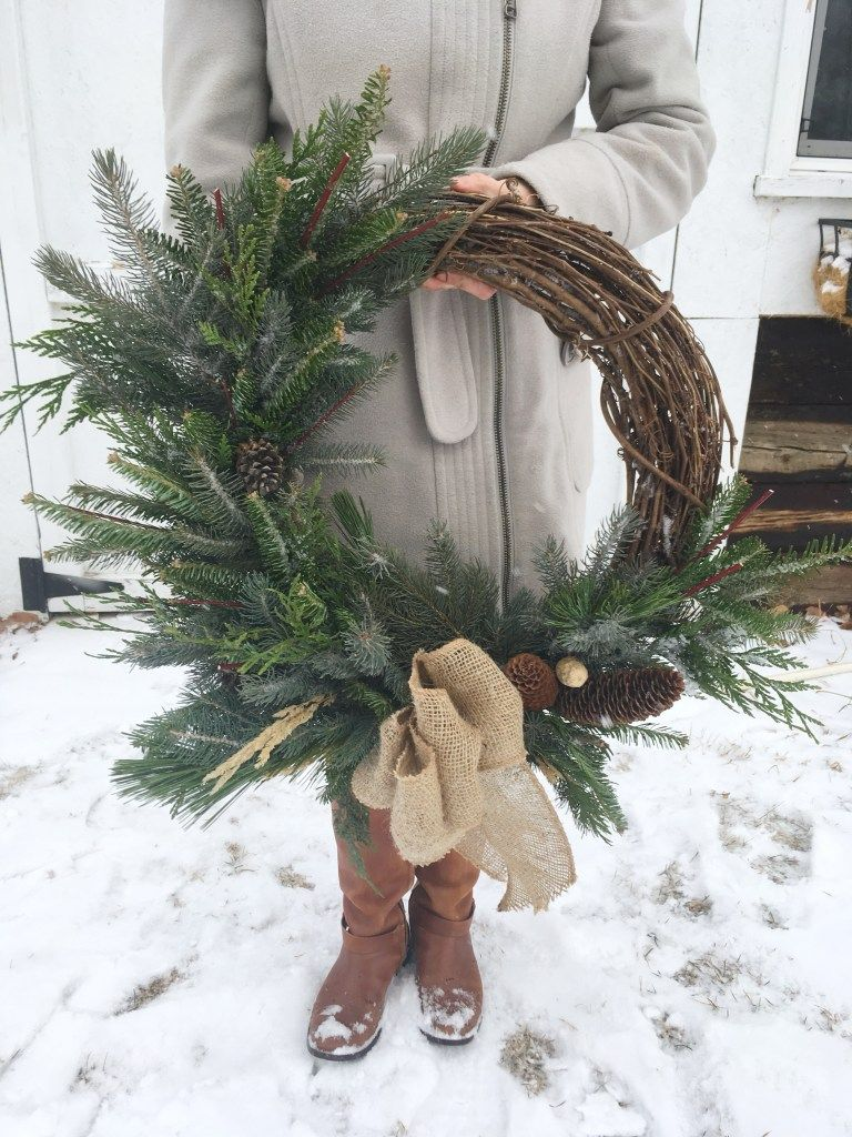 Photo of Winter Wreaths on a Grapevine Frame | This Mamas Dance