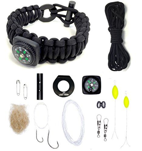 The Ultimate Paracord Survival Kit Bracelet Food Fire Shelter