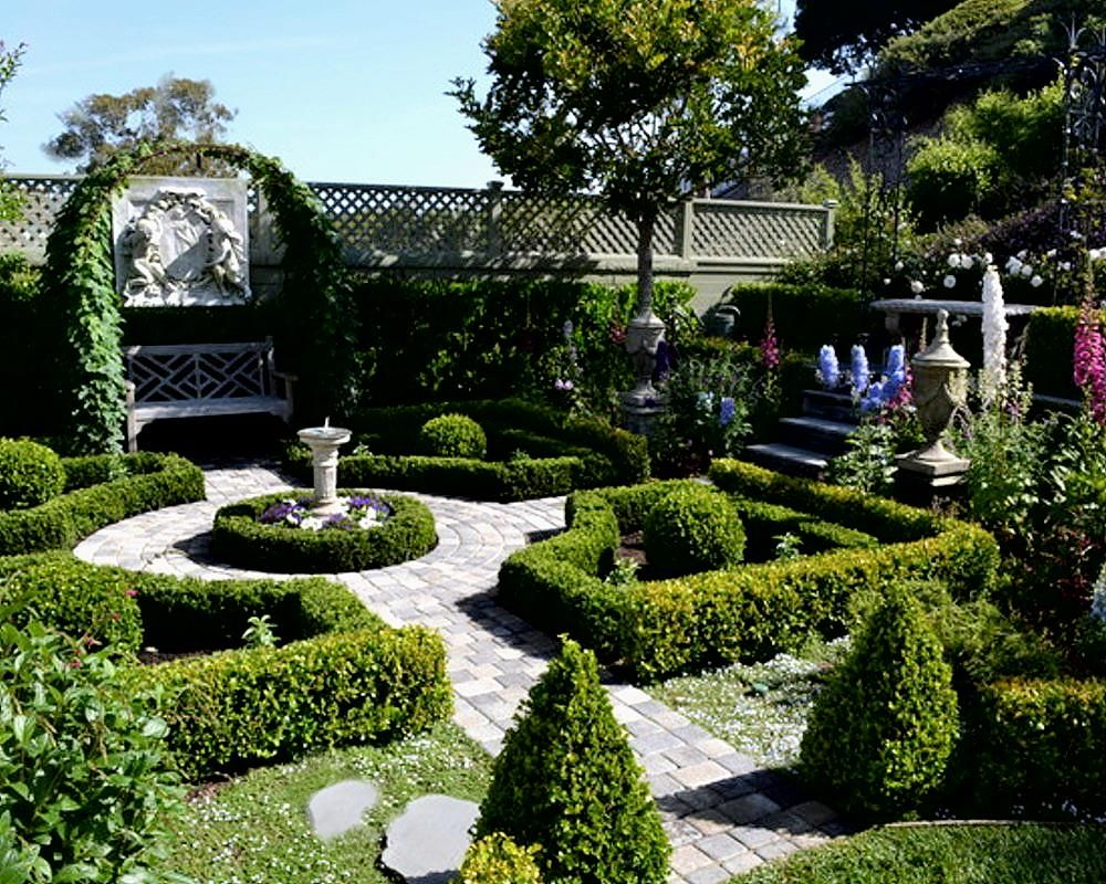 Formal english garden design informal english garden for Formal landscape design