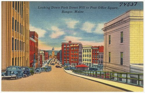 Looking Down Park Street Hill To Post Office Square Bangor Maine By Boston Public Library Via Flickr