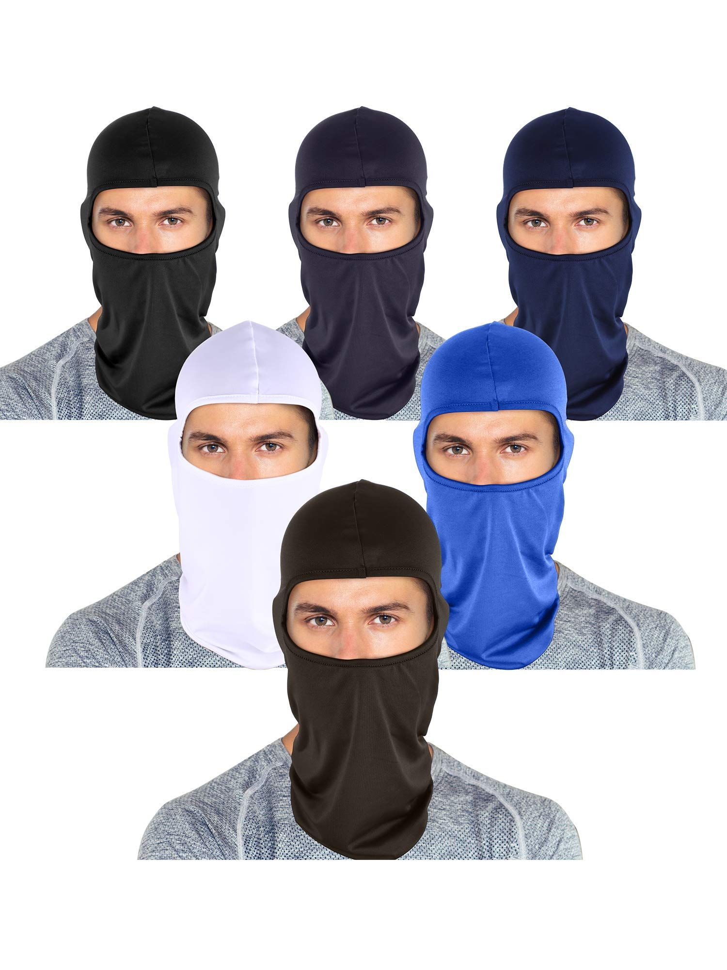 Multi-color Tatuo 6 Pieces Unisex Balaclava Full Face Mask Winter Windproof Ski Mask for Outdoor Motorcycle Cycling Hiking Sports
