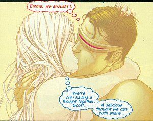 Cyclops Has An Affair Telepathically With Emma Frost Unbenownst To