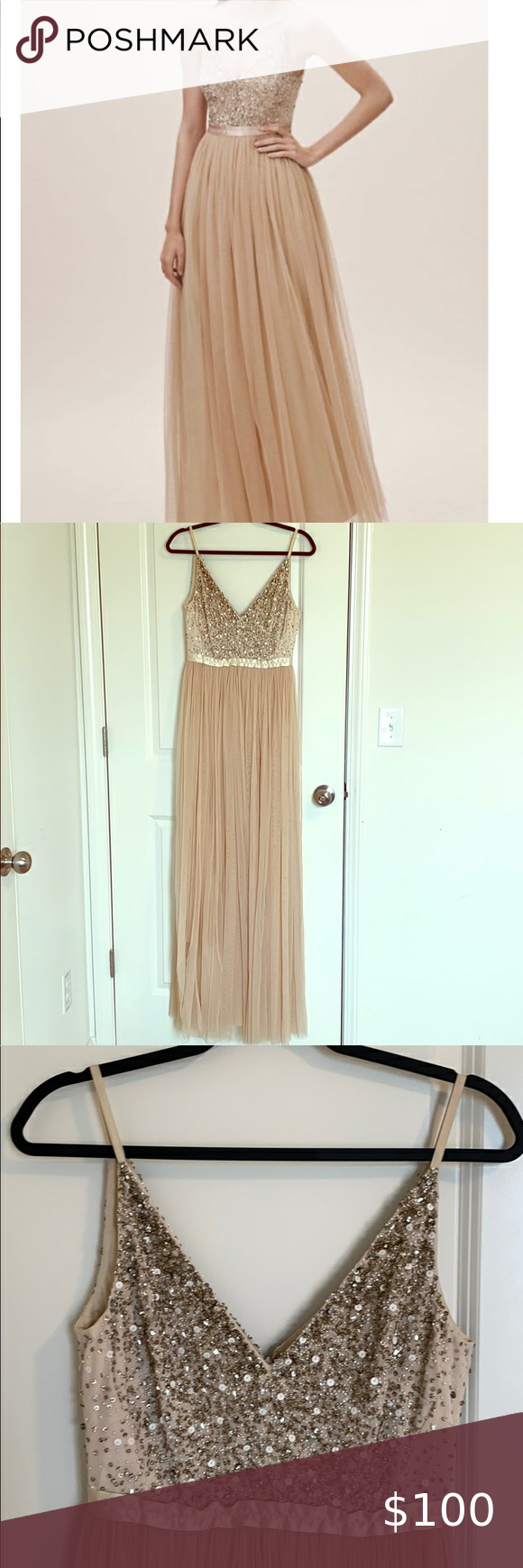 Photo of ANTHROPOLOGIE BHLDN AVERY DRESS Size 4 bridesmaids dress In like new condition E…