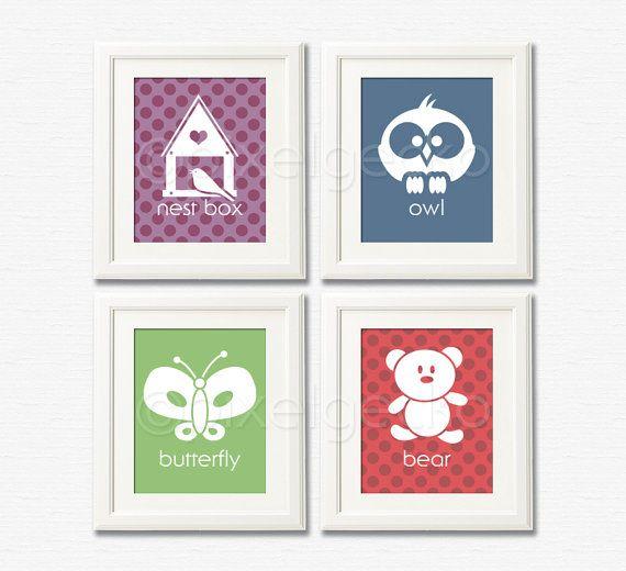 Woodland Nursery Art Print Set ii  Set of four 8x10  by pixelgecko, $59.60