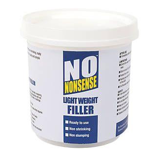 No Nonsense Lightweight Filler White 500ml Brickwork The Cure Wood