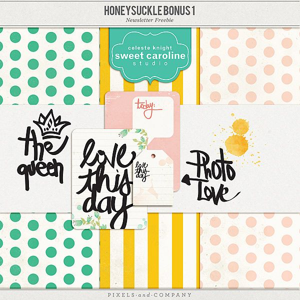 Honeysuckle | Bonus 1  Thank you for subscribing my Newsletter  Don't forget to check out the Full Kit and the Journaling Cards  ***Scroll down to Download*...