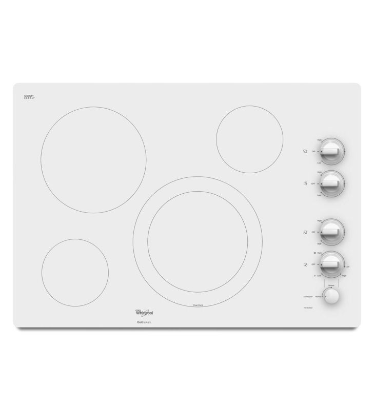 Whirlpool G7ce3034x 30 Gold Series Electric Ceramic Gl Cooktop With Accusim Pure White Cooktops Liances Furniture Pinterest