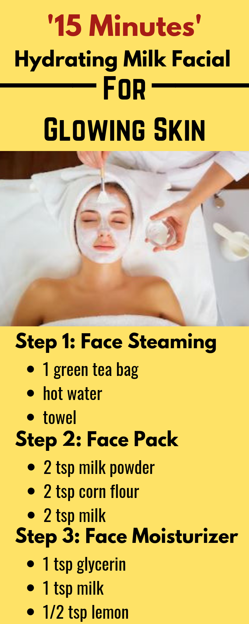 Milk facial at home  Healthy glowing skin, Facial, Facial care