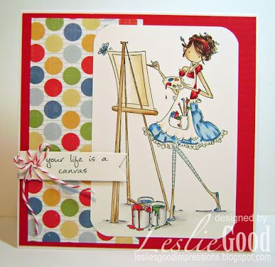 Abigail the Artist by Leslie Good, image Stamping Bella