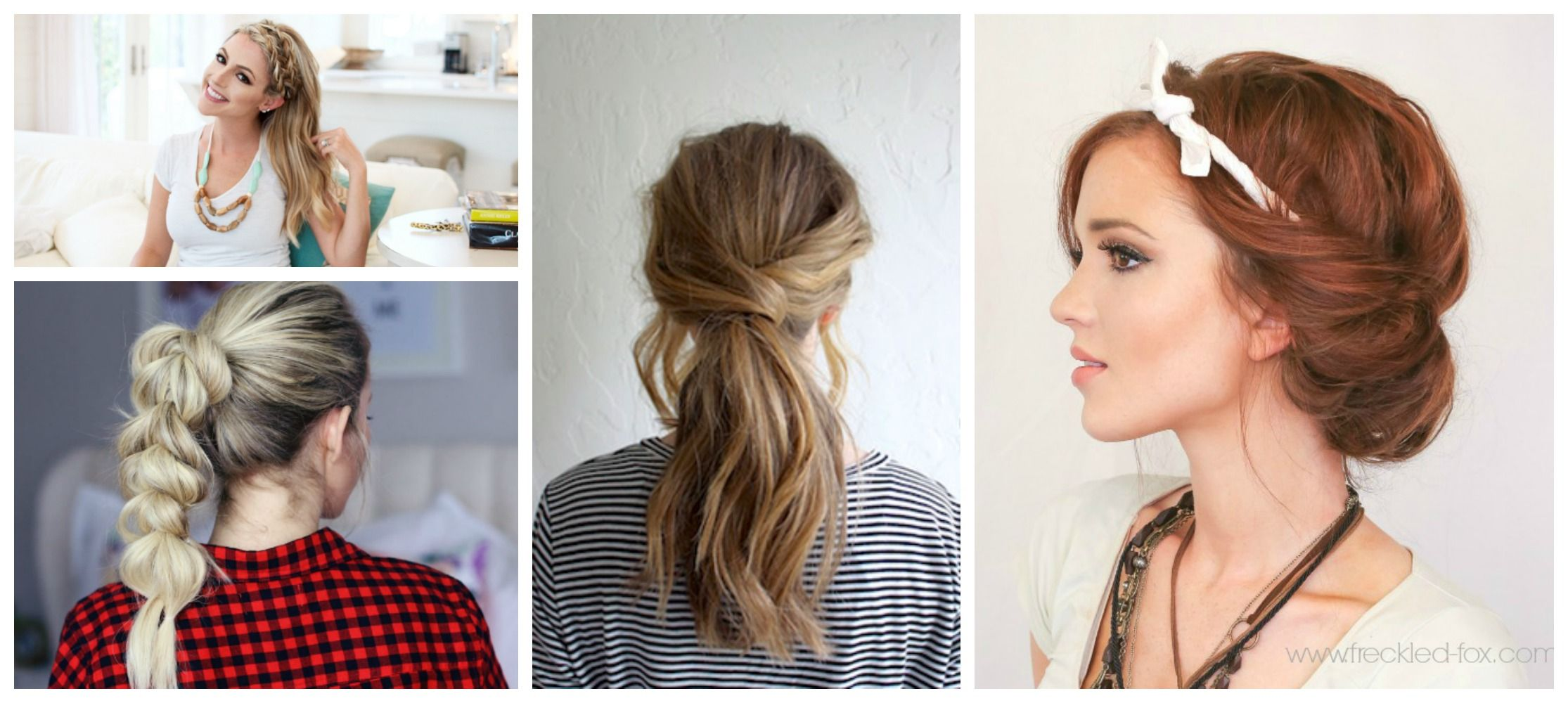quick u easy hairstyles that make dirty hair look fab quick