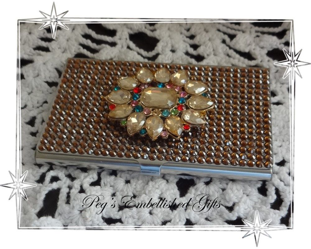 Rhinestone business card holder metal business card case swarovski rhinestone business card holder metal business card case swarovski rhinestone case credit card colourmoves Image collections