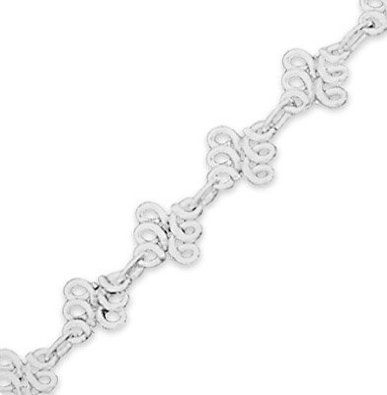 flexible anklet classic product adjustable fit sterling chain inch ankle to silver amberta bracelets