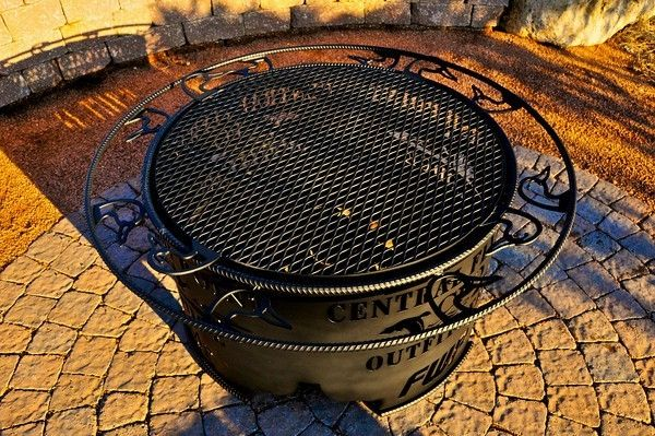 Duck Unlimited themed Fire Pit