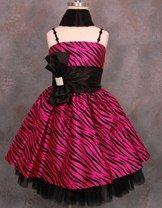 74b8b3cc5 Fabulous Fuchsia Party Dress with Exciting Zebra Striped Prints ...