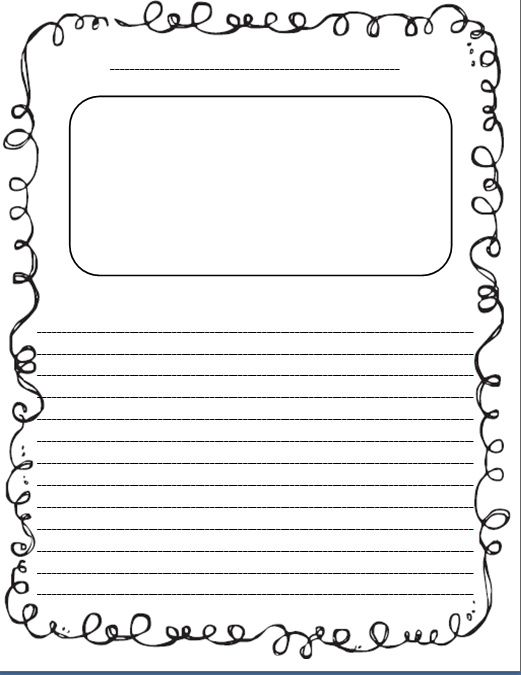 primary lined paper template - Google Search Classroom Inspiration - Free Writing Paper Template