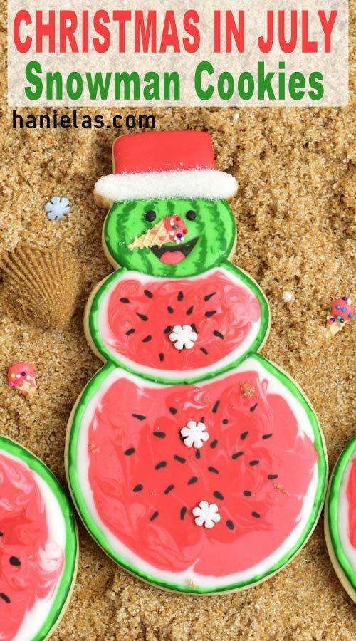 Christmas in July Cookies   Haniela's
