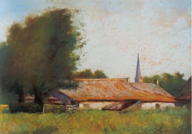 Rote Dächer (Domburg), Lesser Ury, 1913.