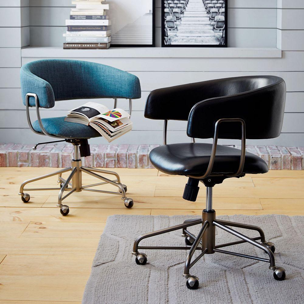 Halifax Leather Office Chair West Elm Australia West