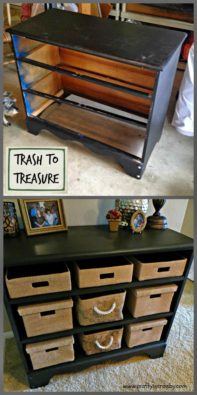 revamping a chest of no drawers diy furniture pinterest drawers roadside rescue and craft. Black Bedroom Furniture Sets. Home Design Ideas