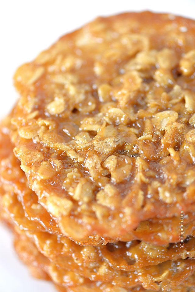 Oatmeal Lace Cookies Recipe ~ they are buttery and oh so addictive.