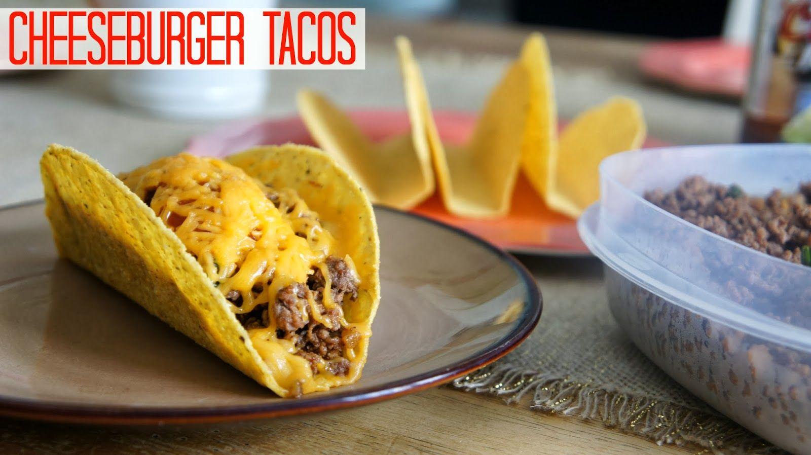Bacon Cheeseburger Tacos #tacos