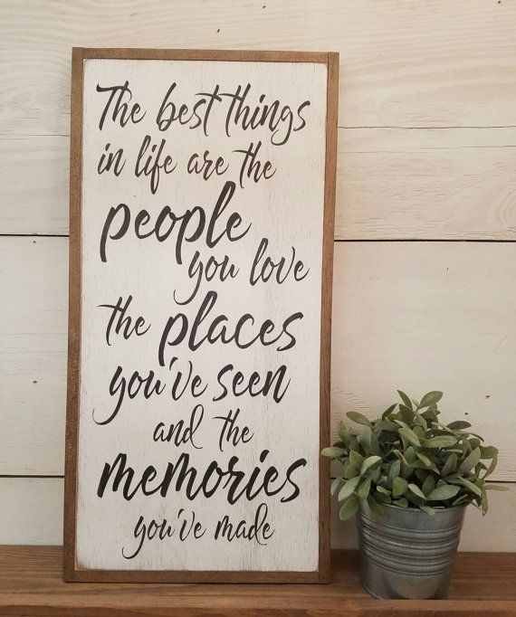 Best Things 1 X2 Distressed Wooden Framed Sign Farmhouse Shabby Chic Wall Art Painted Woo Wooden Signs With Sayings Kitchen Wall Art Quotes Wooden Signs