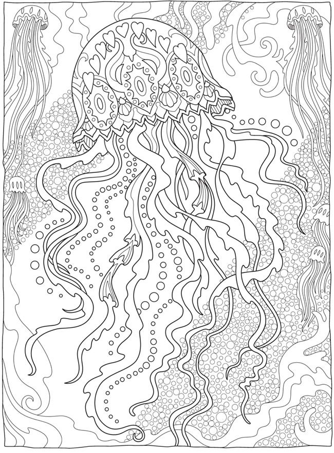Creative Haven Fanciful Sea Life Coloring Book Dover Publications Coloring Pages Animal Coloring Pages Mandala Coloring Pages