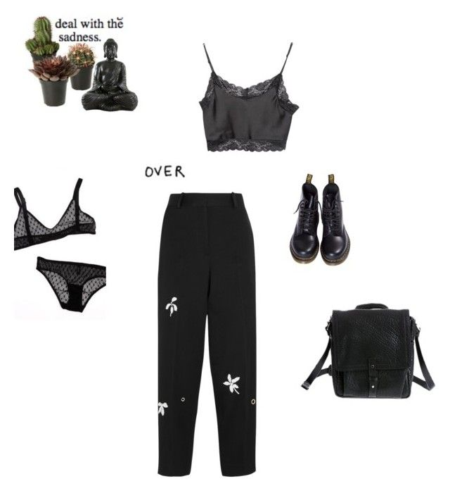 """Untitled #177"" by vesleku on Polyvore featuring Brandy Melville, Jonathan Saunders, Dr. Martens and Overland Sheepskin Co."