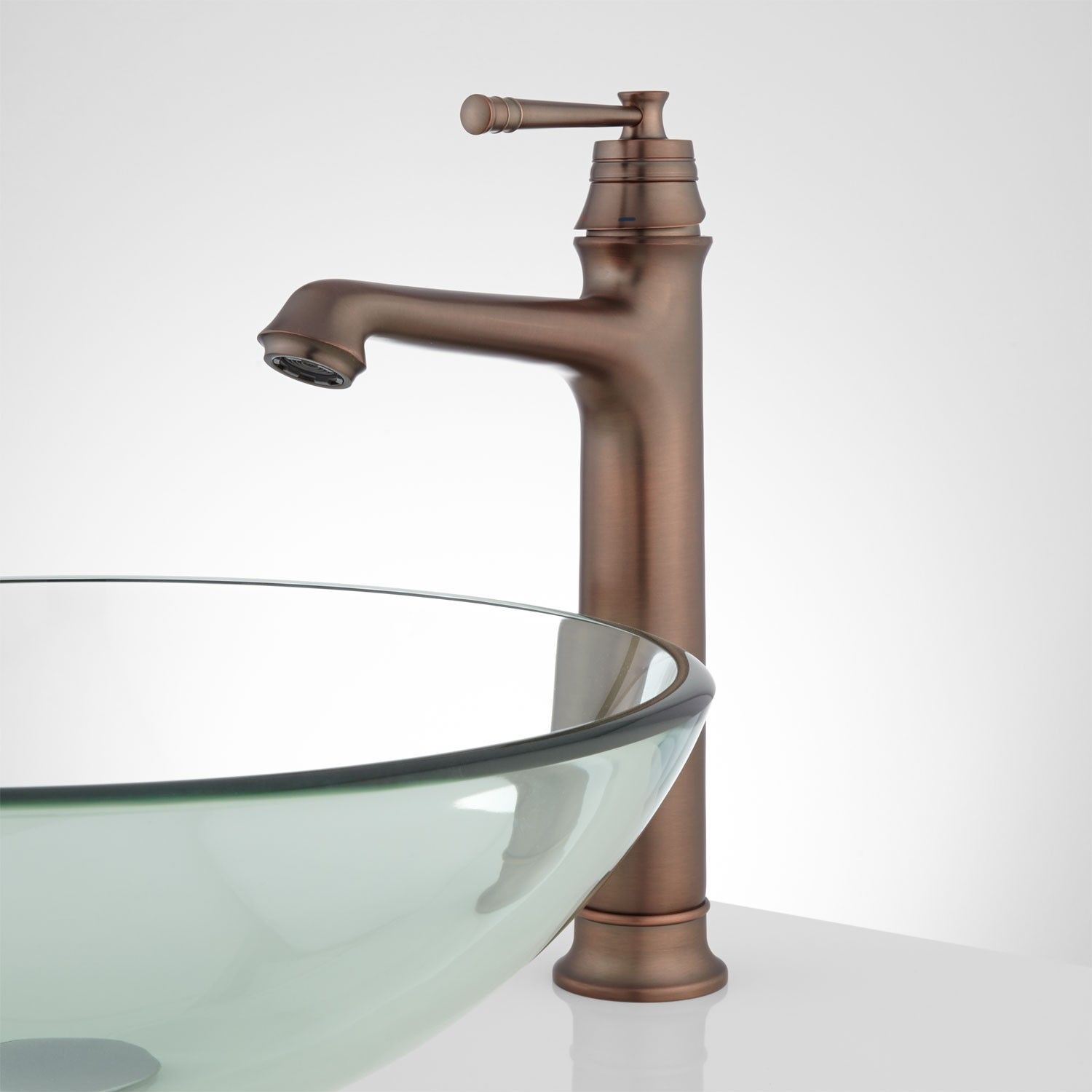 Lucia Single-Hole Vessel Faucet | Vessel faucets, Faucet and Powder room