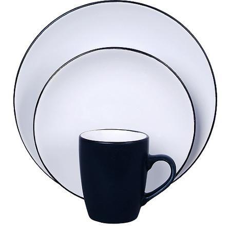 sc 1 st  Pinterest & Vivendi 2-Tone 16-Piece Dinnerware Set White