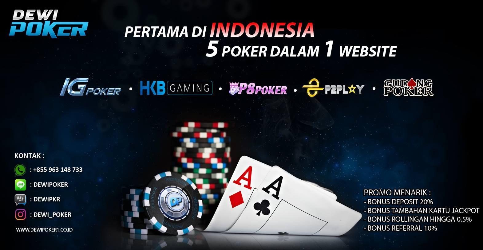 Pertama di Indonesia,, 5 server dalam 1 Website dewipoker