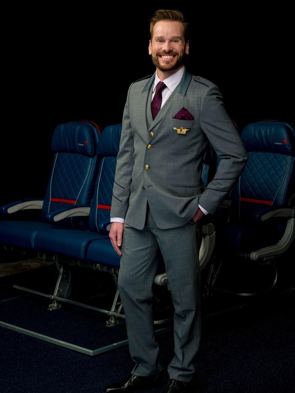 Delta Unveils New Uniforms For 60 000 Frontline Workers Delta Flight Attendant Uniform Delta Flight Attendant Posen