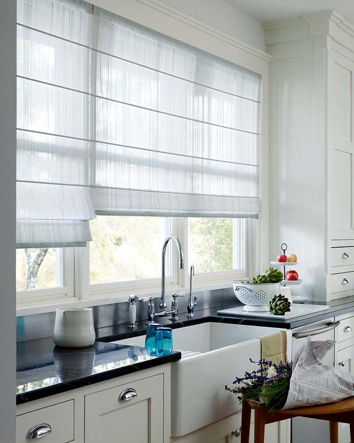 Love the roman blinds Future Home Ideas  Tips Pinterest Roman - fenster gardinen küche