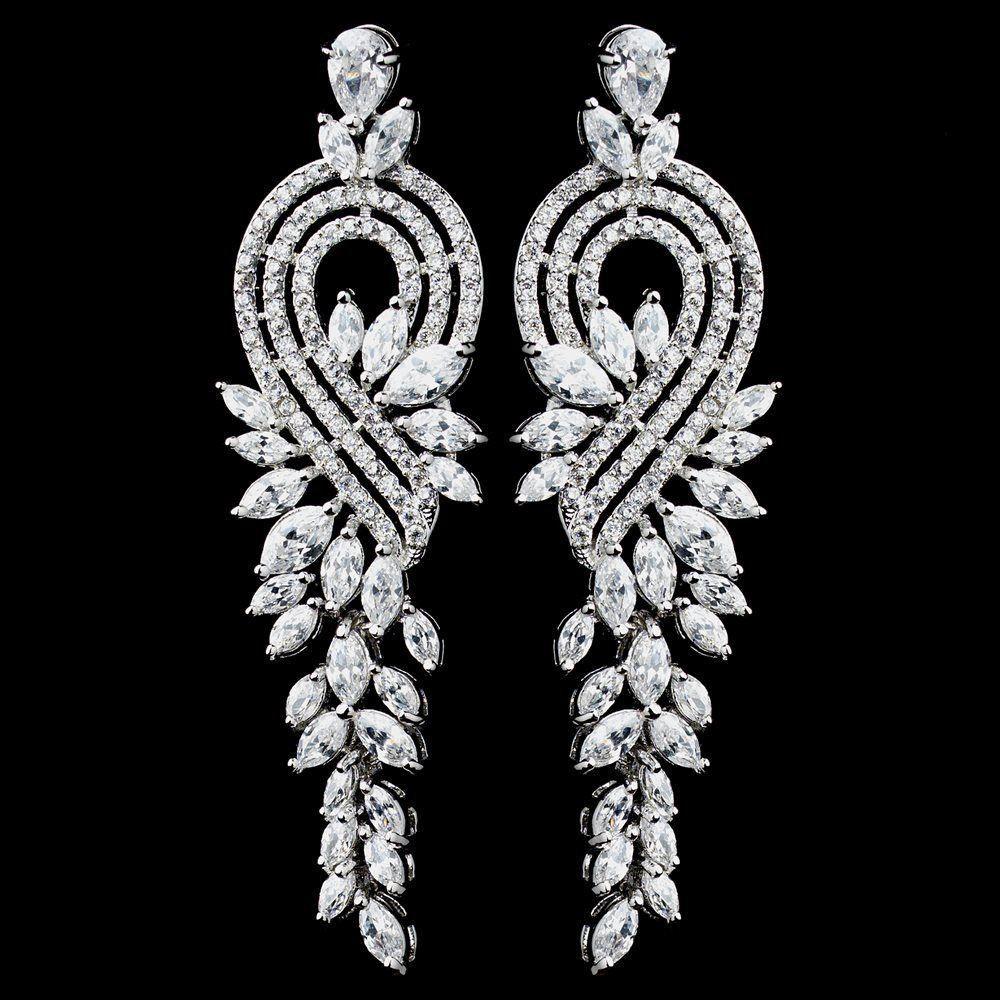 Rhodium clear marquise cz dangle earrings 5710 dangles cubic rhodium clear marquise cz dangle earrings 5710 arubaitofo Choice Image